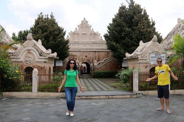 Entrada palacioTaman Sari