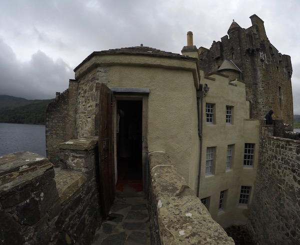 Fachada lateral Castillo Eilean Donan