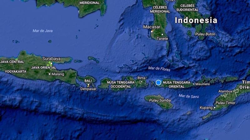 Mapa Isla Flores Indonesia