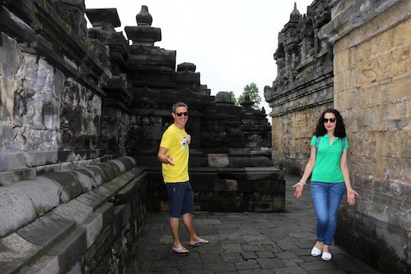 Pasillos templo Borobudur