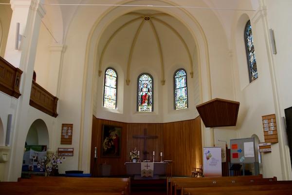 Interior Iglesia de Cristo