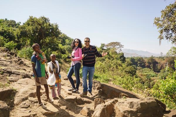Vendedores Cataratas del Nilo Azul