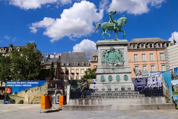 Escultura del Gran Duque Guillaume II.