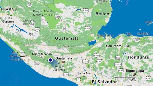 Mapa Guatemala