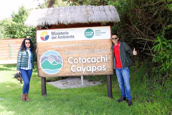 Reserva Ecológica Cotacachi Cayapas.