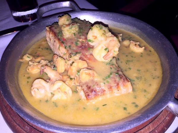 Salmón, restaurante el Buque.