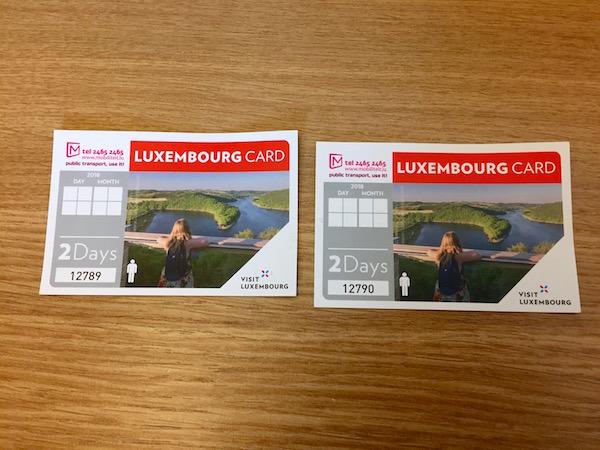 Tarjetas Card Pass Luxemburgo.