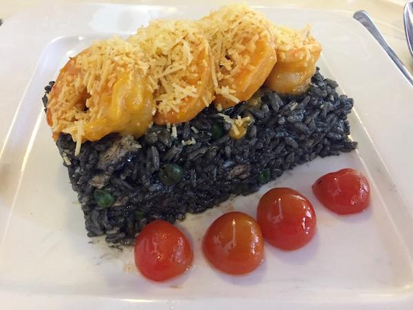 Arroz negro, restaurante Rocoto Internacional.