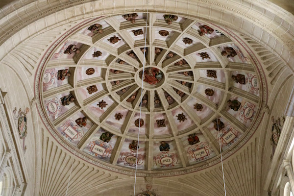 Decorado techo iglesia de San Gabriel.