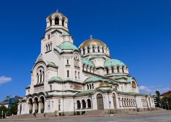 Fachada lateral Catedral Alejandro Nevski.