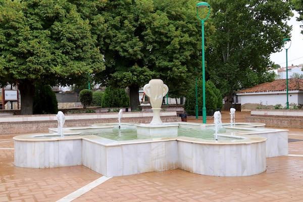 Fuente Jardín Paseo de Narváez.