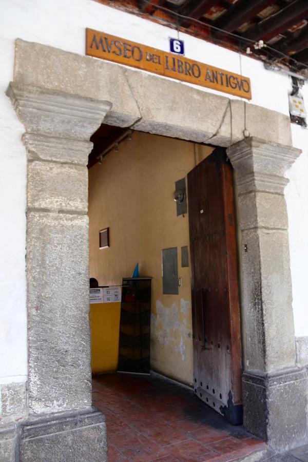 Museo del libro antiguo.