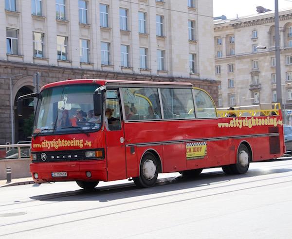 autobús turístico City-sightseeing Sofía.