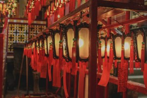 Lanterns in Man Mo Temple Hong Kong