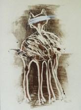 Monotype et techniques mixtes sur papier