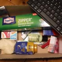 Packliste und Packkiste