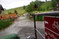 Bodenseeradweg im Regen. Der erste Tag der Radtour