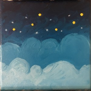 oil painting sky and stars