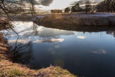 Wolkenspiegelung im Thalhammer Moos