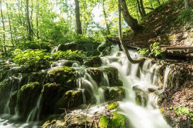 Bach im Wald in Langzeitbelichtung