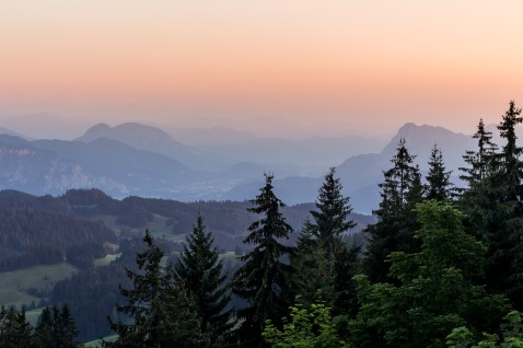 Sunset in the Mountains near Kufstein