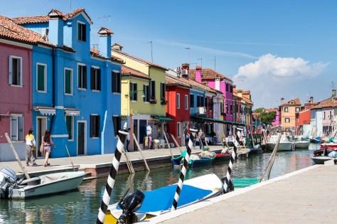 #Impressionen von der #Insel #Burano mit vielen #bunten #Häusern