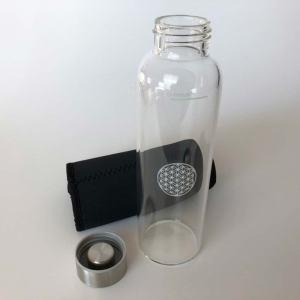 Glasflasche-schwarz