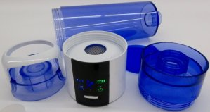 Aquacentrum-Blue-900-Wasserstoff-Booster-mit-PEM-Zelle-Liegende-Flasche-2-Deckel-Produktionseinheit