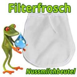 Filterfrosch-Nussmilchbeutel