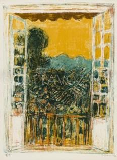 La fenêtre de l'atelier - lithographie