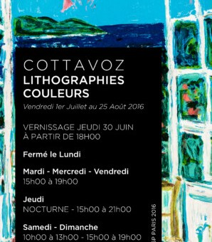 Exposition COTTAVOZ lithographies couleurs