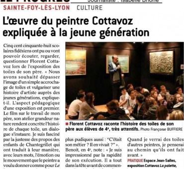 """Articles de presse """"Le Progrès."""" Exposition itinérante du 16 septembre au 2 octobre 2016"""