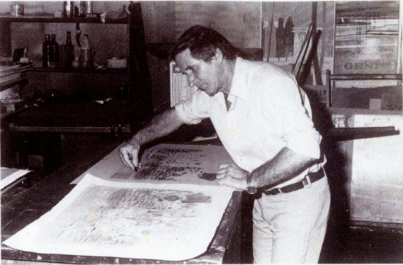 André COTAVOZ 1974 ateleirs MOURLOT