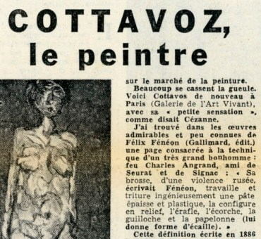 COTTAVOZ, le Peintre par George BESSON 1957