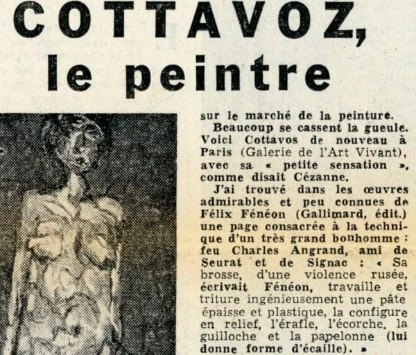 COTTAVOZ, le Peintre par George BESSON 1957