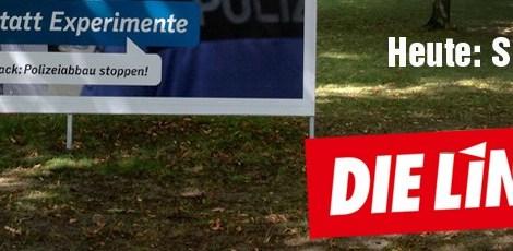 Die CDU entdeckt Probleme, dei sie selbst verursacht hat und übersieht, dass Rot-Rot sie anpackt. Heute: Sicherheit