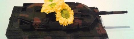 Neujahrsempfang des Landrates - Von der LINKEN gab es einen Blumenpanzer
