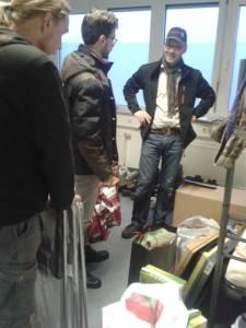 v.l.n.r.: Daniel Herzog, Tobias Bank und Herr Weinaug