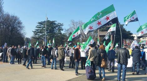 Tag 2 in Genf: Treffen mit Women for Democracy und Kundgebung zum 5. Jahrestag der syrischen Revolution