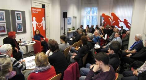 """Veranstaltung mit Katja Kipping """"Wer flüchtet schon freiwillig"""""""