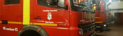 Treffen zum Brandschutz im Havelland mit dem Kreisbrandmeister und dem Landrat