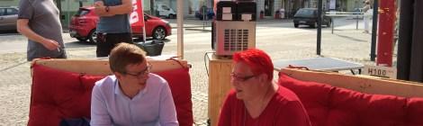 Mit dem Spitzenteam der LINKEN Brandenburg unterwegs im Wahlkreis