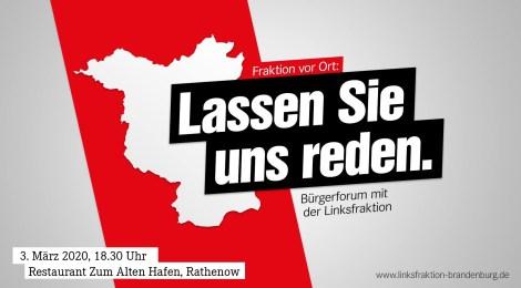 Lassen Sie uns reden! – Linksfraktion lädt zum Bürgerforum am 3. März in Rathenow