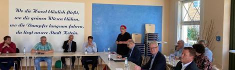 Veranstaltung zur Reaktivierung der Bahnstrecke Ketzin-Wustermark mit Infrastrukturminister Guido Beermann