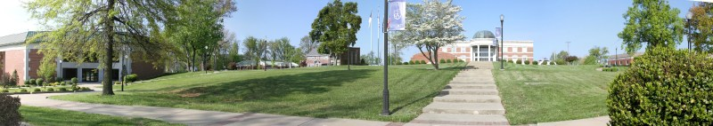right side of panorama of OCU campus