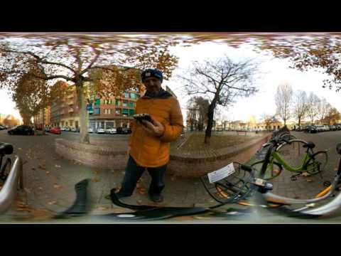 Video a 360° - Prova bike sharing oBike a Torino su strada asfaltata - VIDEO