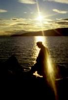 Backlight in Narvik's harbor