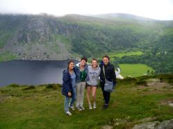 Incredible view from Wicklow and the fantastic four.