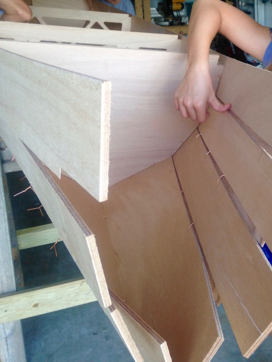 Stitching the hull
