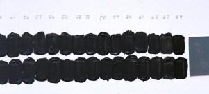 Figure 2b. Dark end of the scale comparing neutral grey